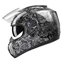 GLX Unisex- Adult GX15 Cool Looking Motorcycle Helmet
